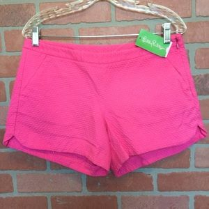 Lilly Pulitzer NWT Shorts Adie Pink size 6 (3M54)